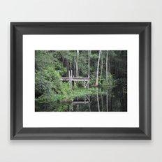 Pond Dock Framed Art Print