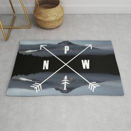 PNW Pacific Northwest Compass - Mt Hood Adventure Rug