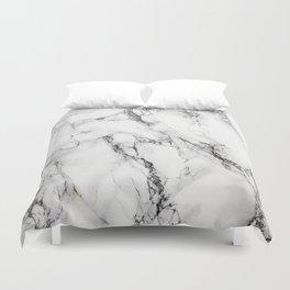 White Marble Texture Duvet Cover