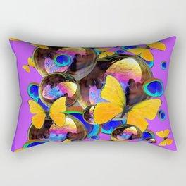PANTENE ULTRA VIOLET GOLD BUTTERFLY BUBBLES DECORATIVE ART Rectangular Pillow