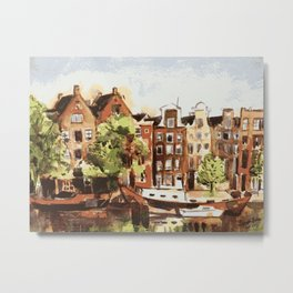 Amsterdam Dutch Buildings Netherlands Metal Print