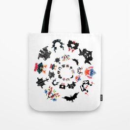 Rorschach test subjects' perceptions of inkblots psychology   thinking Exner score Tote Bag