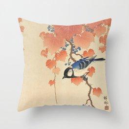 Ohara Koson - Japanese Bird Blockprint Deko-Kissen