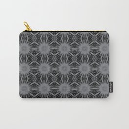 Sharkskin Floral Abstract Carry-All Pouch