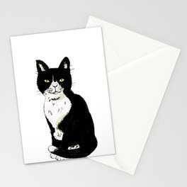 Black and white cat drawing Stationery Cards