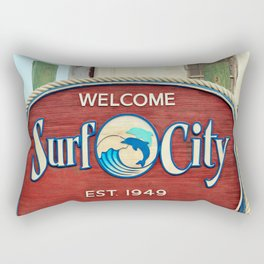 Welcome To Surf City Rectangular Pillow