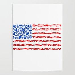 Westernized Weaponized Flag Poster