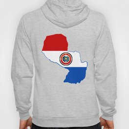 Paraguay Map with Paraguayan Flag Hoody