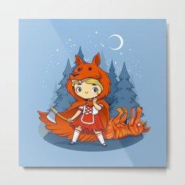 Red Hood Wolf Metal Print