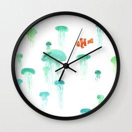 Sea of Jellies Wall Clock