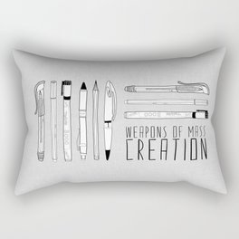 weapons of mass creation Rectangular Pillow