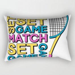 Game Set Match Tennis Design Quote for Tennisplayers | BTNNS Rectangular Pillow