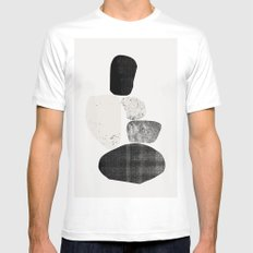 Pile of rocks MEDIUM White Mens Fitted Tee