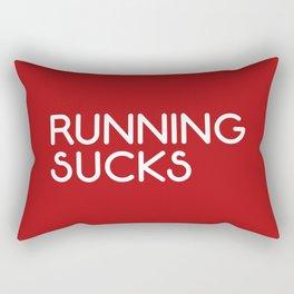 Running Sucks Funny Quote Rectangular Pillow