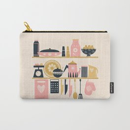 Colorful Cooking In A Mid Century Scandinavian Kitchen Carry-All Pouch