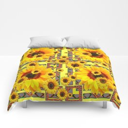 KANSAS WESTERN STYLE YELLOW SUNFLOWER FLORAL Comforters