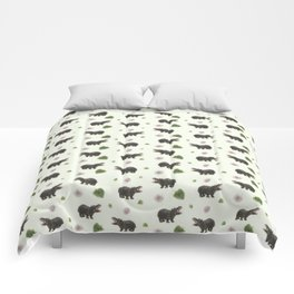 Hippos and Flowers Comforters