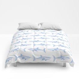 Blue Shark Pattern Comforters
