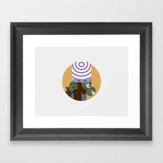 Mojo Jojo profile Framed Art Print