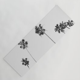Black & White Palms Yoga Mat