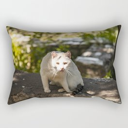 Cat in the Park Rectangular Pillow