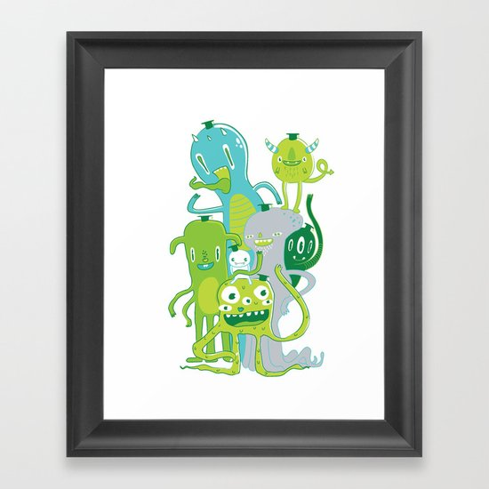 Done with Monster School! Framed Art Print