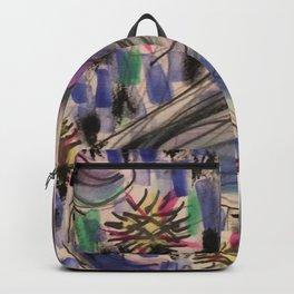 Purple Waves Backpack