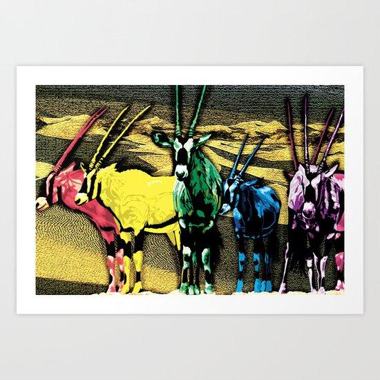 Gazelles Art Print