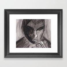 Michael Pitt Chalk Sketch (1) Framed Art Print