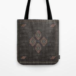 Kilim in Black and Pink Tote Bag