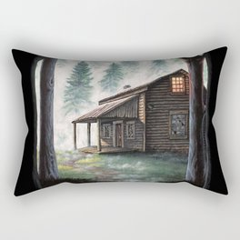 Cabin in the Pines Rectangular Pillow
