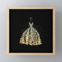 Evening Gown Fashion Illustration #3 Framed Mini Art Print