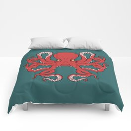 Octopus Knot in Deep Sea Comforters