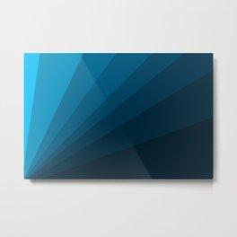 The blue fan, geometric design in mystic blue Metal Print