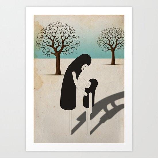 padre/figlio Art Print
