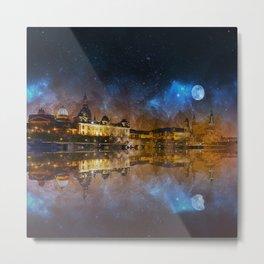 Dresden At Night Metal Print