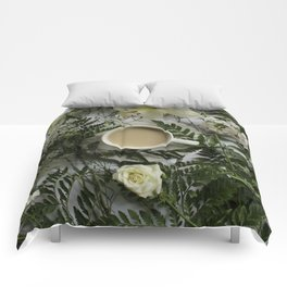 Flowers and Coffee Comforters