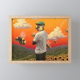 Flower Boy Framed Mini Art Print