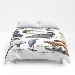 Animals of the Florida Everglades Comforters