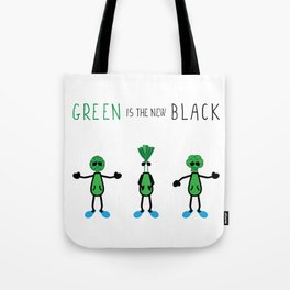 LVE - Green is the new Black Tote Bag