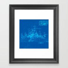 Sleeping Beauty Castle Framed Art Print