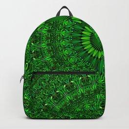 Green Garden Mandala Backpack