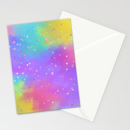 Colorful Art Design with Paint Splatter Ver.2 Stationery Cards