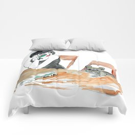 Green Muse, art by BoubouleArt Comforters