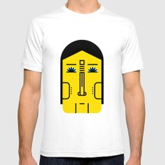 05 White Mens Fitted Tee SMALL