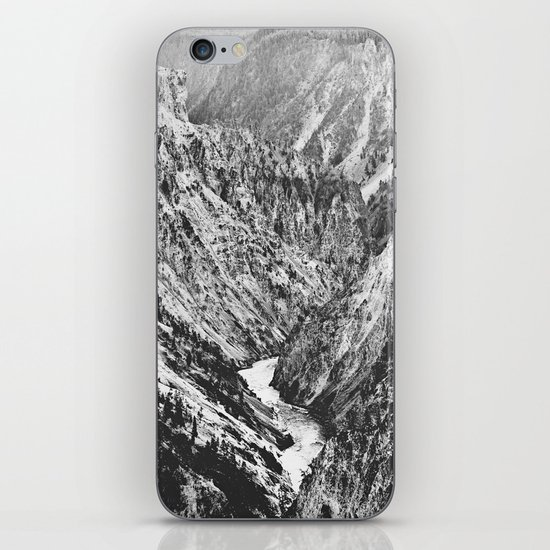 Canyon Black and White iPhone & iPod Skin