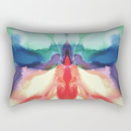 Rainbow Butterfly Abstract Rectangular Pillow