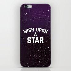 Wish Upon Star Quote iPhone & iPod Skin