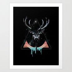 The Blue Deer Art Print