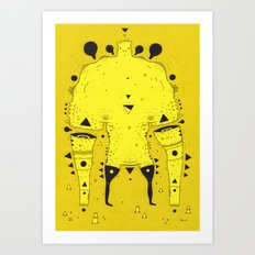 muscle dude Art Print